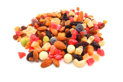 Mixed nuts and dry fruits Stock Images