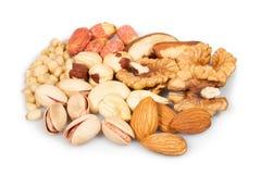 Mixed nuts group Royalty Free Stock Photos
