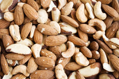 Mixed nuts - healthy food - Royalty Free Stock Images