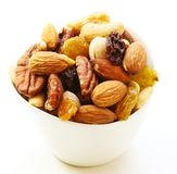 Mixed Nuts Healthy snack close up Royalty Free Stock Images