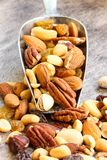 Mixed Nuts Healthy snack close up Royalty Free Stock Photo