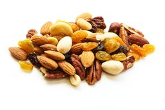 Mixed Nuts Healthy snack close up Royalty Free Stock Image