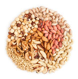 Mixed nuts heap Stock Photography