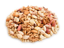 Mixed nuts heap Stock Image