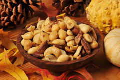Mixed nuts for the holidays Royalty Free Stock Photography