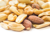 Mixed nuts isolated on white Stock Images