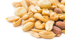Mixed nuts isolated on white Royalty Free Stock Photo
