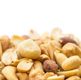 Mixed nuts isolated on white Royalty Free Stock Photos