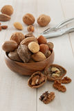 Mixed Nuts with Nutcracker Royalty Free Stock Image