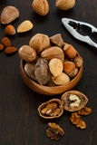 Mixed Nuts with Nutcracker Royalty Free Stock Images