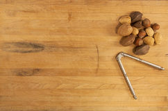 Mixed Nuts and Nutcracker Stock Image