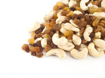 Mixed nuts and raisins Royalty Free Stock Photography