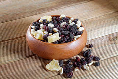 Mixed nuts with raisins Stock Images
