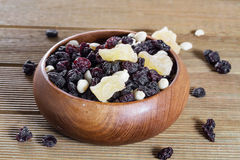 Mixed nuts with raisins Stock Photography