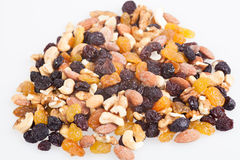 Mixed nuts and raisins Stock Photo