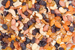 Mixed nuts and raisins Royalty Free Stock Photos