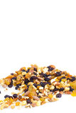 Mixed nuts and raisins Royalty Free Stock Images
