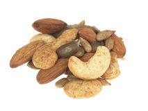 Mixed Nuts and Seeds Stock Photo