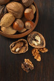 Mixed Nuts with Shelled Walnut Royalty Free Stock Photo
