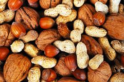 Mixed nuts. Royalty Free Stock Photos