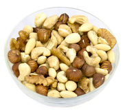Mixed nuts. Various mixed nuts in a bowl Stock Photo