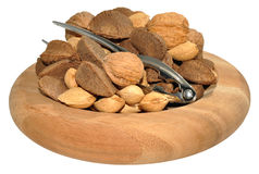Mixed Nuts In Wooden Dish Royalty Free Stock Image