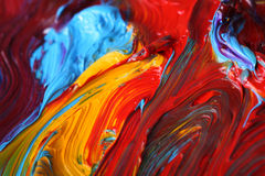 Mixed oil paint stock photos