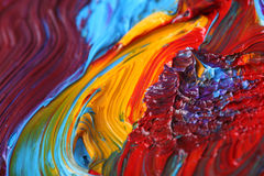 Mixed oil paint, art detail Stock Photography