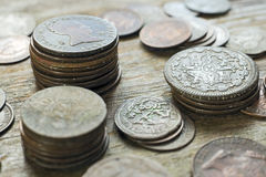 Mixed Old Coins Royalty Free Stock Image
