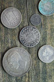 Mixed Old Coins Royalty Free Stock Photo