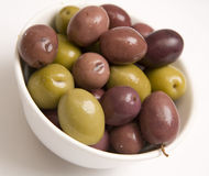 Mixed olive bowl Royalty Free Stock Image