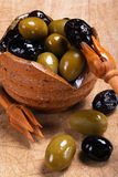 Mixed olives Royalty Free Stock Photography