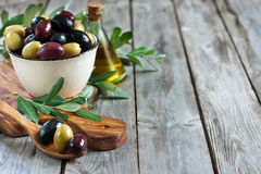 Mixed olives background Royalty Free Stock Photo