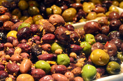 Mixed olives Stock Photography