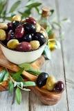 Mixed olives Royalty Free Stock Photography