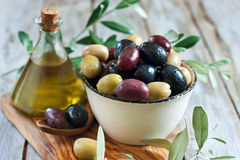 Mixed olives Royalty Free Stock Images