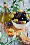 Mixed olives Royalty Free Stock Photo