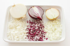 Mixed onions Stock Photography