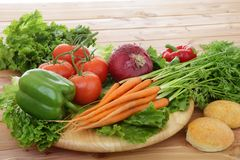 Mixed organic vegetables Stock Photo