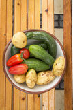 Mixed organic vegetables in bowl Royalty Free Stock Photography