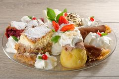 Mixed oriental dessert plate Royalty Free Stock Photography