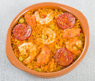 Mixed Paella Royalty Free Stock Photography