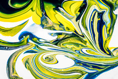 Mixed paint. Different colors of wet acrylic paint mixed Royalty Free Stock Images