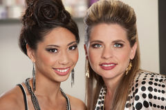 Mixed Pair of Gorgeous Ladies Stock Photography
