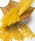 Mixed pasta. Some mixed raw Italian pasta Stock Photos