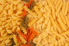 Mixed pasta Royalty Free Stock Photos