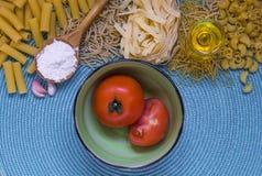 Mixed pasta Stock Photo