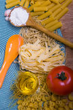 Mixed pasta Royalty Free Stock Images