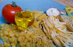Mixed pasta Stock Image