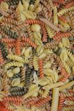 Mixed Pasta Noodle Shapes Stock Photos